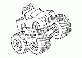 monster truck 4x4 coloring page for kids transportation coloring