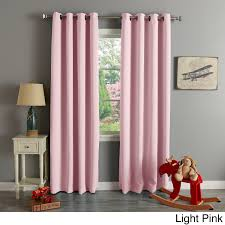 Light Pink Curtains by Aurora Home Thermal Insulated Blackout Grommet Top 84 Inch Curtain