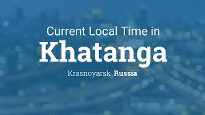 Russia Time Zone Map by Current Local Time In Khatanga Russia