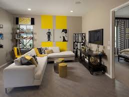 grey and yellow living room accessories modern grey and yellow