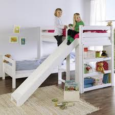 Bunk Bed With Slide Ikea Apartments Kidz Beds Beni L Bunk Bed With Slide White Jellybean
