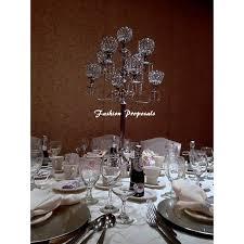 10 wedding crystal acrylic globe candelabra 9 arms with dripping