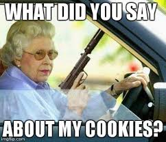 Grandma Meme - grandma with a silencer imgflip