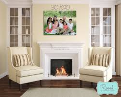 how a 30x40 wall portrait would look hung over your fireplace