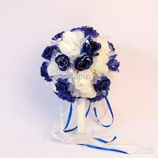 white roses for sale hot sale crafted blue and white roses wedding bouquet with