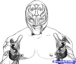 wwe coloring pages rey mysterio mask murderthestout