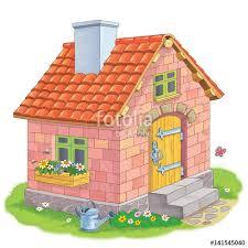 pigs fairy tale cute house bricks