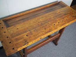Maple Table Top by Refinished Primitive Maple 2 Piece Work Bench Table Furniture