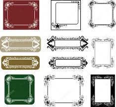 frame ornaments for certificate or label stock vector