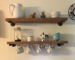 Wall Brackets For Shelving by Industrial 8 Deep Floating Shelf With Pipe Brackets