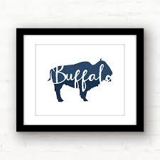home decor buffalo ny buffalo print buffalo art blue buffalo new york print