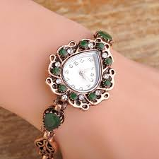 vintage bracelet watches images Madrry retro vintage heart quartz watches bracelet antique gold jpg