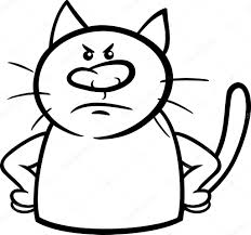 angry cat cartoon coloring page u2014 stock vector izakowski 50757757