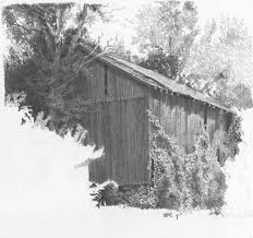 drawing a rustic barn clutch pencil demo