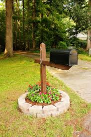 easy mail box landscape flowers around mailbox ideas best simple