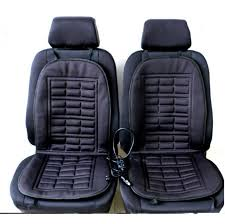 Electric Heated Cushion 2pcs Car Covers Automobiles Front Seat Covers Pad Electric Heated