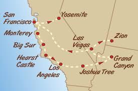 map of usa west coast green tortoise adventure travel california and west coast