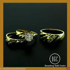 ebay wedding ring sets yellow gold engagement and wedding ring sets ebay
