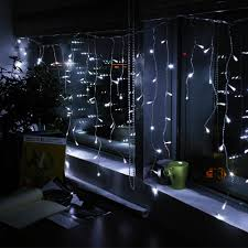 led window icicle lights 594 leds string lights 6000k warm white