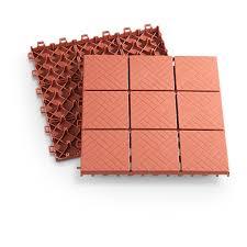 Patio Interlocking Tiles by Interlocking Patio Pavers 24 Piece 236501 Yard U0026 Garden At