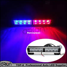 Led Blue Light Bar by New 8 Led Blue Red Emergency Led Light Police Strobe Lamp Flashing