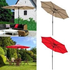 Aluminum Patio Umbrella by Patio Umbrella 9 U2032 Aluminum Patio Outdoor Market Umbrella Tilt W
