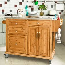 kitchen cart island varnished wooden butcher block top kitchen island mixed black bar