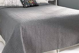 anja contemporary grey bedspread bed company