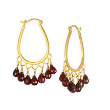 Garnet Chandelier Earrings Satya Garnet Chandelier Earrings Womens Apparel At Vickerey