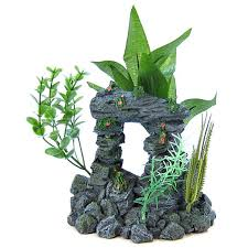 blue ribbon pet products blue ribbon rock arch with plants