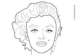 new marilyn monroe coloring pages 35 in line drawings with marilyn
