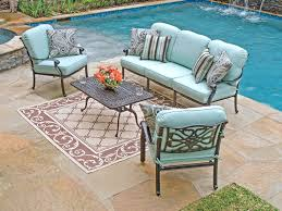 Cast Aluminum Patio Table And Chairs Chair King Cushions Gorgeous Aluminum Patio Table Seating Cast