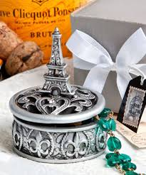 eiffel tower favors eiffel tower design curio box favors