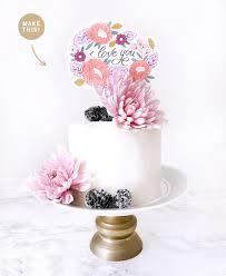 cake topper diy printable for mother u0027s day u2013 scrap booking