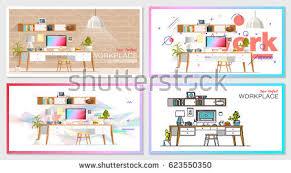 Ice Cream Shop Floor Plan Ice Cream Parlor Banner Shop Interior Stock Vector 364699493
