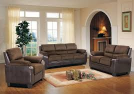 Modern Sofa Sets Living Room Myco Furniture Carrie Modern Brown Fabric Brown Leather