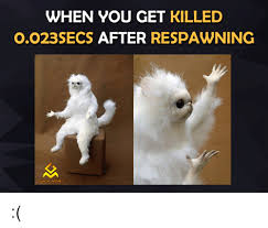 Gaming Memes - when you get killed 0023secs after respawning gaming memes video