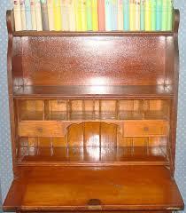 Drop Front Secretary Desk by Antique Warren Brandin Jamestown Furniture Handmade Drop Front