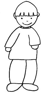 coloriage d u0027un jeune garçon collection 2 tête à modeler