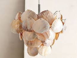 Capiz Shell Light Fixtures Capiz Shell Chandelier Diy Shell Chandelier Provide Cozy Mood