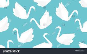 origami crane bird seamless pattern japanese stock vector