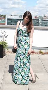 new look green floral dress