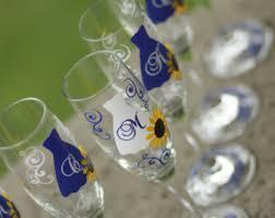 Wedding Gift Glasses Sunflower Flutes Etsy