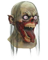 tongue zombie mask for your halloween appearance horror shop com
