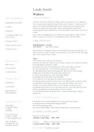 Waitress Resume Template by Waitress Experience Resume Fast Food Server Resume Exle Service