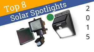 best solar flood light 8 best solar spotlights 2015 youtube