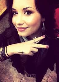 demi lovato gets a new cross tattoo u2013 hollywood life