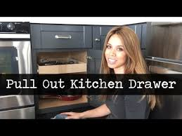 convert cabinet shelves into pull out drawers youtube