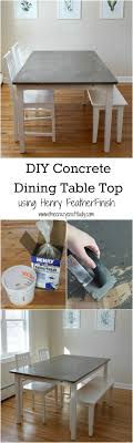 tile table top makeover diy concrete dining table top and dining set makeover concrete