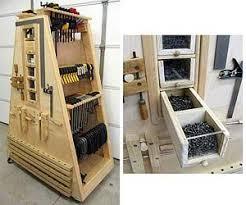 Mobile Lumber Storage Rack Plans by 89 Best Workshop Clamp Storage Images On Pinterest Workshop